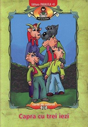 Capra cu trei iezi, dupa Ion Creanga - carte de colorat