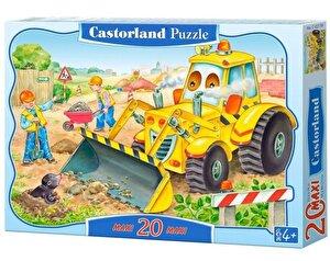 Puzzle maxi Buldozer in actiune, 20 piese