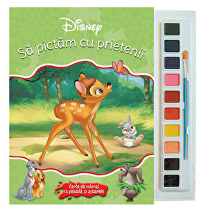 Sa pictam cu prietenii. Carte de colorat cu pensula si acuarele