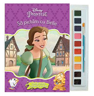 Sa pictam cu Belle. Carte de colorat cu pensula si acuarele