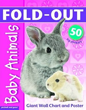 Fold-Out Poster Sticker Baby Animals