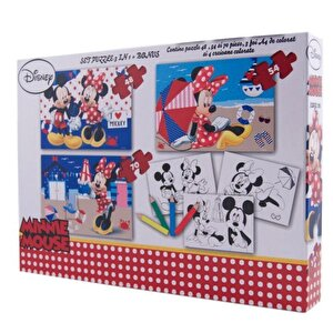 Puzzle 3 in 1 - Minnie, 172 piese