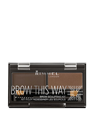 Kit pentru redesenarea sprancenelor Rimmel London Brow This Way 003, Dark Brown, 1.4 g