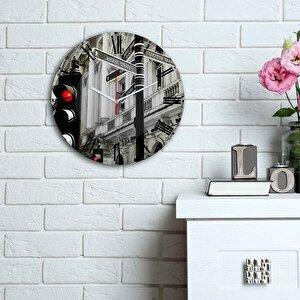 Ceas decorativ de perete din MDF Home Art, 238HMA6106