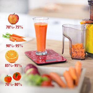 Storcator de fructe si legume cu melc, Oursson JM7002/OR, 240 W, recipient suc 1 L, portocaliu