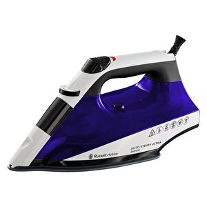Fier de calcat Russell Hobbs AutoSteam Ultra 22523-56, Talpa ceramica Even Steam, 2400 W, 0.32 l, 130 g/min, Alb/Albastru.