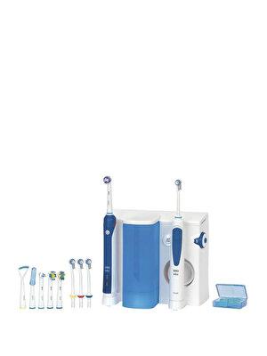 Periuta de dinti electrica Oral-B PRO 3000, reincarcabila, curatare 3D, 4 programe, 3 capete + Irigator bucal Oral-B, 4 capete