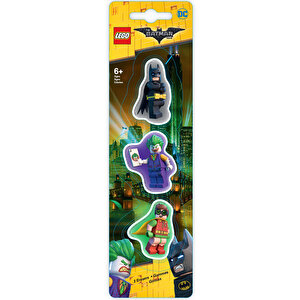 The LEGO Batman Movie, Set 3 gume de sters - Batman, Robin, Joker