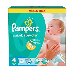 Scutece Pampers Active Baby 4 Maxi Mega Pack 132 buc