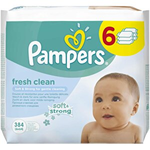 Servetele umede Pampers Baby Fresh 6x64 buc