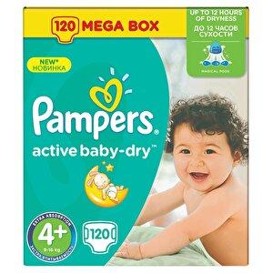 Scutece Pampers Active Baby 4+ Maxi Plus Mega Box 120 buc