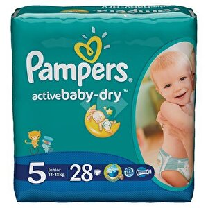 Scutece Pampers Active Baby 5 Junior Carry Pack 28 buc