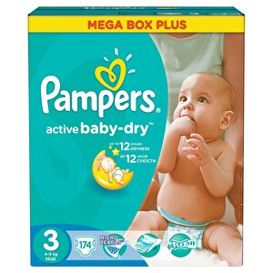 Scutece Pampers Active Baby 3 Mega Box Plus 174 buc