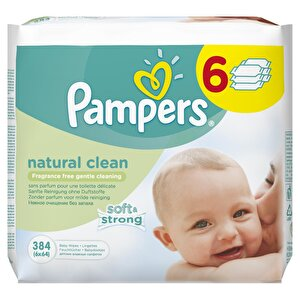 Servetele umede Pampers Natural Clean 384buc (6pk*64buc)