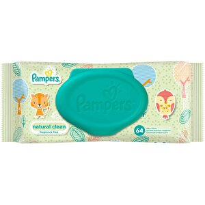 Servetele umede Pampers Natural Clean Single 64buc