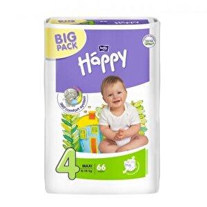 Scutece Happy Maxi 4 Big Pack, 8-18 kg, 66 buc