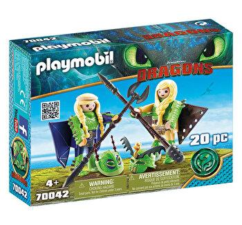 Playmobil Dragons III, Raffnut si Taffnut in costume de zbor de la Playmobil