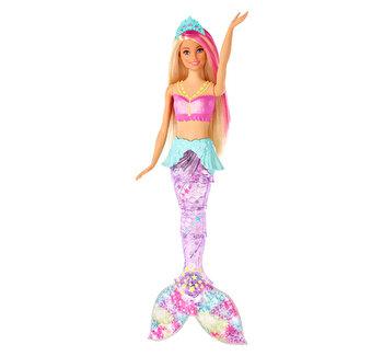 Papusa Barbie Dreamtopia – Sirena curcubeu cu lumini si sunete de la Barbie