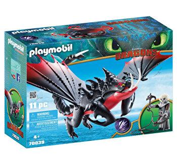 Playmobil Dragons III, Deathgripper si Grimmel de la Playmobil