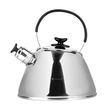 Ceainic cu fluier Kassel, 2.6 litri, inox, inductie, seria Mistral, 93203, Argintiu de la Kassel
