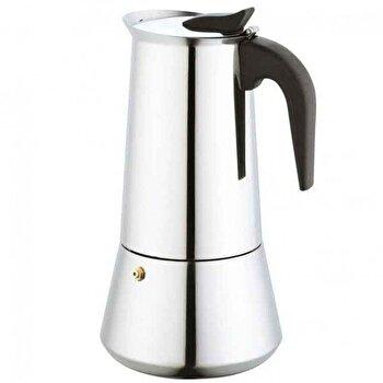 Espressor pentru aragaz KingHoff, 9 cupe, inox, maner bachelita, inductie, KH-1046, Argintiu/Negru de la KING Hoff