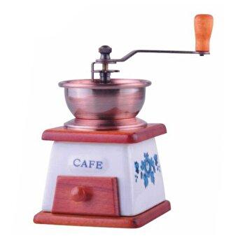 Rasnita manuala pentru cafea KingHoff, elemente din lemn si ceramica, KH-4147, Maro de la KING Hoff