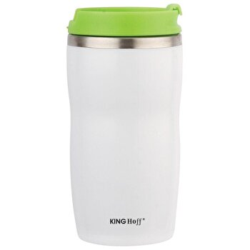 Cana termos cu pereti dubli inox, KingHoff, 380 ml, KH-1182-GR, Verde de la KING Hoff
