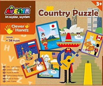 Set 26 puzzle-uri – Tari, 52 piese de la Momki