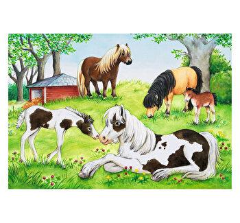 Puzzle 2 in 1 – Lumea cailor, 48 piese de la Ravensburger