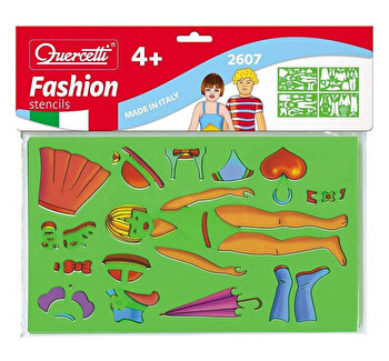 Set creativ pentru copii Sabloane Fashion Quercetti de la Quercetti