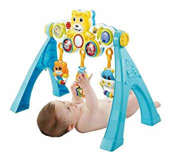 Arcada bebelusi pentru joaca Bo Jungle cu muzica, lumini si panou detasabil de la Bo Jungle