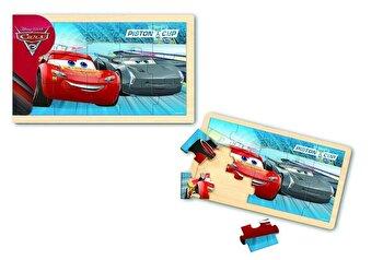 Cars 3 – Puzzle lemn, 15 piese de la Disney Pixar