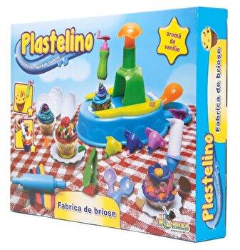 Plastelino – Set Fabrica de Briose, 4 culori de la Plastelino