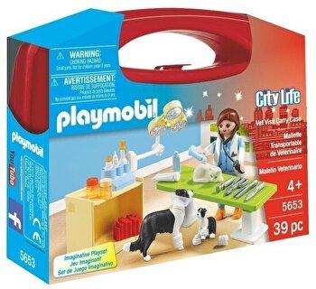 Playmobil City Life, Set portabil – In vizita la veterinar de la Playmobil
