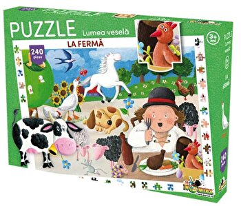 Puzzle Lumea vesela – La ferma, 240 piese de la Noriel