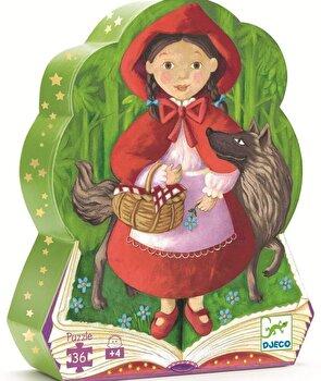 Puzzle silueta – Scufita Rosie, 36 piese de la Djeco