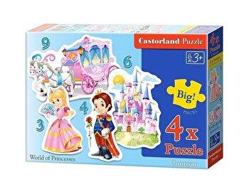 Puzzle 4 in 1 – Lumea Printeselor, 22 piese de la Castorland