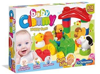 Baby Clemmy – Ferma vesela, 9 cuburi de la Clementoni