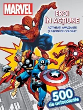Spider-man. Eroi in actiune. Activitati amuzante si pagini de colorat (500 de autocolante)/*** de la Litera