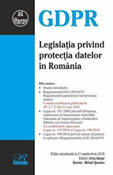 Legislatia privind protectia datelor in Romania/Irina Alexe, Daniel-Mihail Sandru