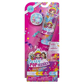 Set de joaca Party PopTeenies – Papusa si accesorii confetti Double Surprise Popper de la Spin Master