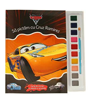 DISNEY. MASINI 3. Sa pictam cu Cruz Ramirez. Carte de colorat cu pensula si acuarele/Disney de la Litera