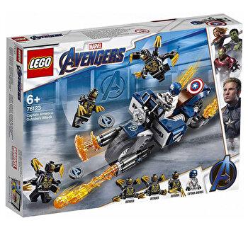 LEGO Super Heroes, Captain America: Atacul Outriderilor 76123 de la LEGO