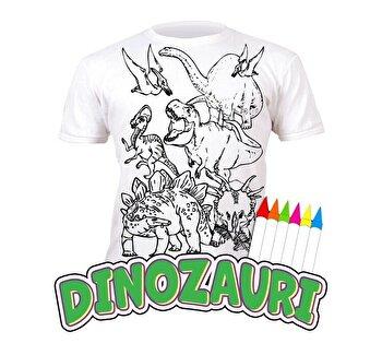Tricou de colorat cu markere lavabile Dinozauri 3-4 ani de la Splat Planet