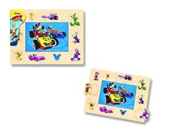 Mickey si Pilotii de curse – Puzzle cu tinte, 16 piese de la Disney
