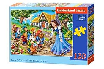Puzzle Alba ca Zapada si cei sapte pitici, 120 piese de la Castorland