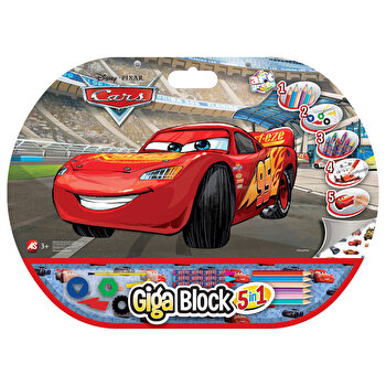 Set pentru desen Giga Block 5 in 1 – Cars de la Art Greco