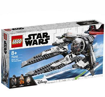 LEGO Star Wars, TIE Interceptor Asul negru 75242 de la LEGO
