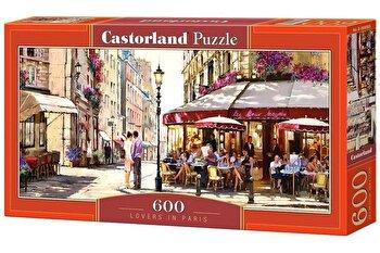 Puzzle panoramic Indragostiti in Paris, 600 piese