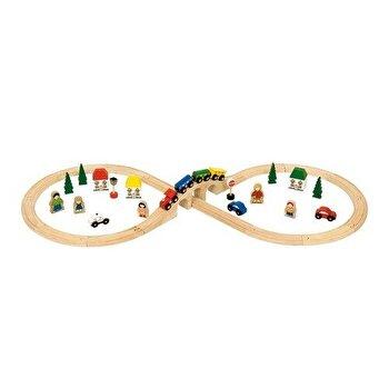 Set Tren cu cale ferata circulara de la BigJigs